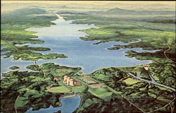 Artists Conception Of Duke Power Company's Keowee Toxaway Project