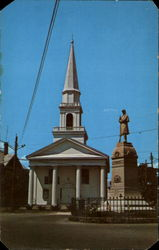 Civil War Monument And Congregational Church
