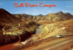 Mountain Highway Through Salt River Canyon, Hyway 60