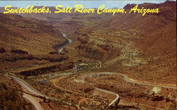Switchbacks At Bottom Of Salt River Canyon
