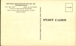 The Bible Institute Of The Air Inc.,, P. O. Box 2157