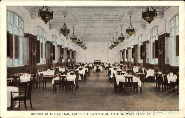Interior Of Dining Hall Catholic University Of America Washington DC