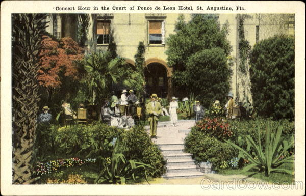 Concert Hour In The Court Of Ponce De Leon Hotel St. Augustine Florida