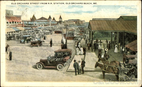 Old Orchard Street From R. R. Station Old Orchard Beach Maine