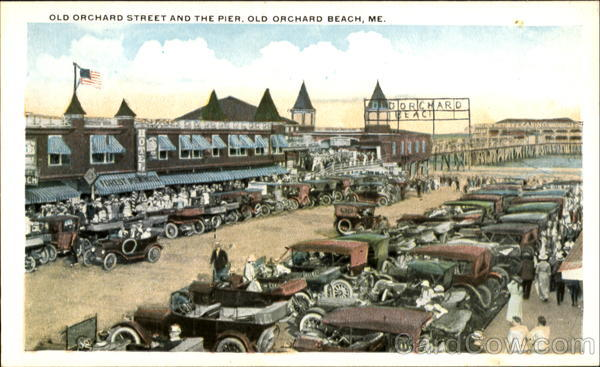 Old Orchard Street And The Pier Old Orchard Beach Maine