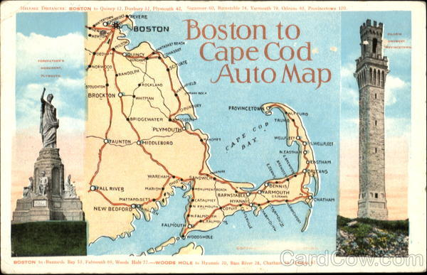 map boston cape cod Boston To Cape Cod Auto Map Massachusetts map boston cape cod