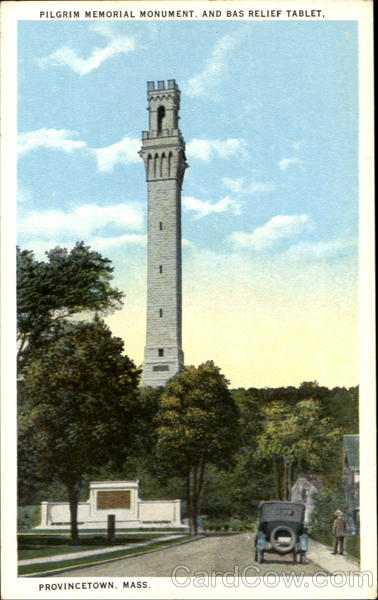 Pilgrim Memorial Monument And Bas Relief Tablet Provincetown Massachusetts