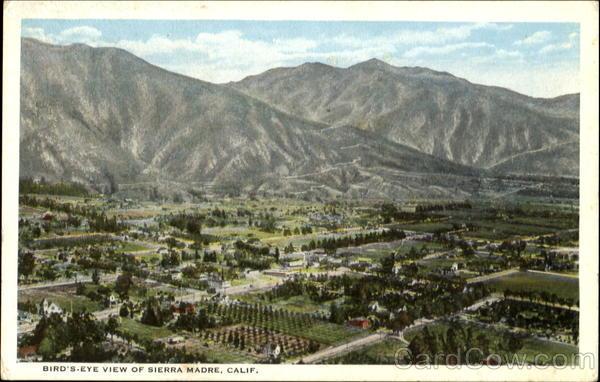 Sierra Madre ca Sierra Madre California ca