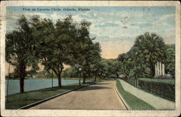 View On Lucerne Circle Orlando Florida
