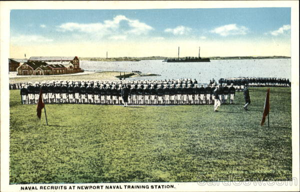 Naval Recruits, Naval Training Station Newport Rhode Island