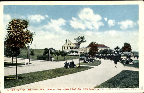 A Portion Of The Driveway, Naval Training Station Newport Rhode Island