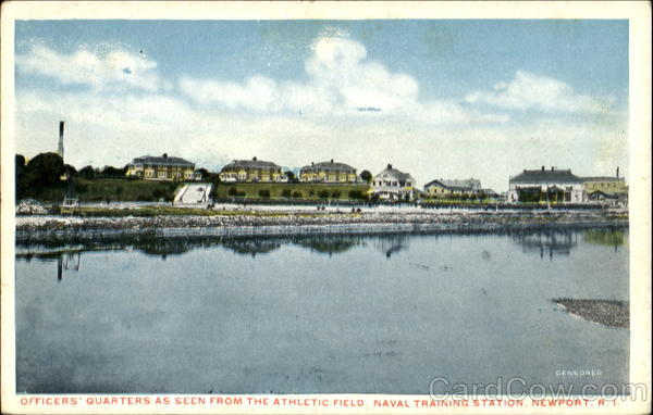 Officers Quarters, Athletic Field Naval Training Station Newport Rhode Island