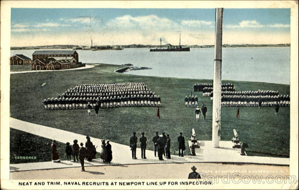 Neat And Trim Naval Recruits Newport Rhode Island