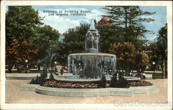 Fountain In Pershing Square Los Angeles California