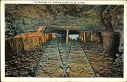 Interior Of Anthracite Coal Mine