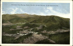 Panoramic View Showing Route Of The Mt. Mitchell Railroad