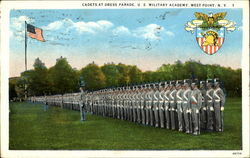 Cadets At Dress Parade, U. S. Military Academy