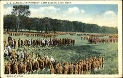 Boys At Drill, U. S. National Army Contonment Camp Devens
