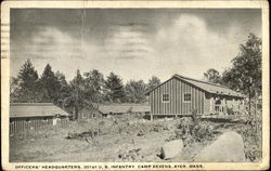 Officers Headquarters, 301st U. S. Infantry Camp Devens