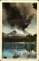 Mt. Lassen In Eruption
