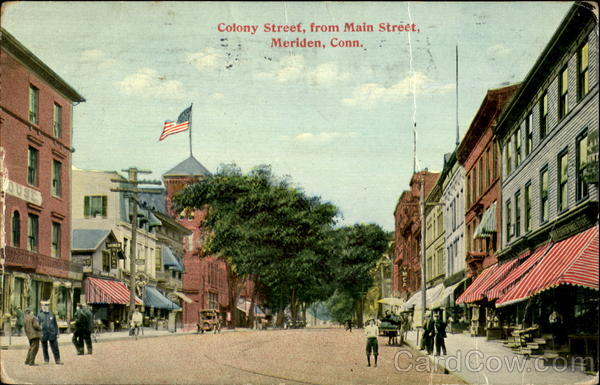 Colony Street From Main Street Meriden Connecticut