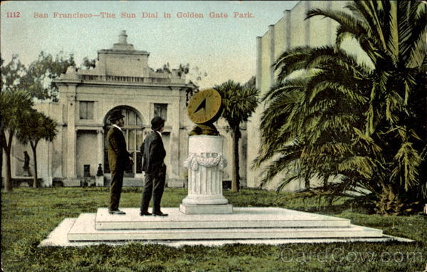 The Sun Dial In Golden Gate Park San Francisco California