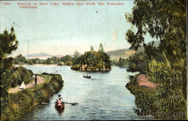 Boating On Stow Lake, Golden Gate Park San Francisco California