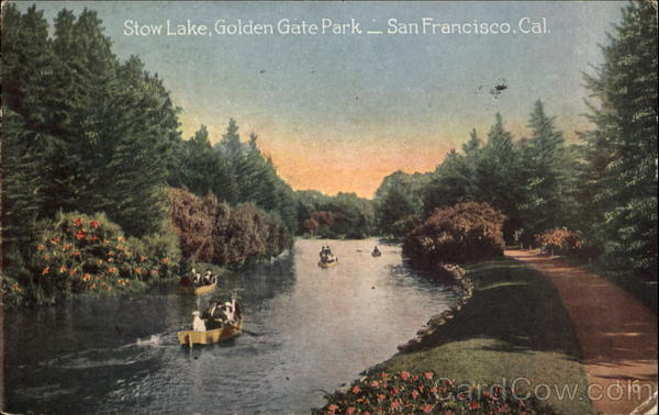 Stow Lake, Golden Gate Park San Francisco California