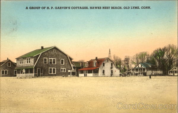 A Group Of H. P. Garvin's Cottages, Hawks Nest Beach Old Lyme Connecticut