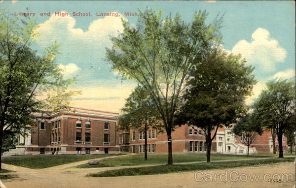 Library And High School Lansing Michigan