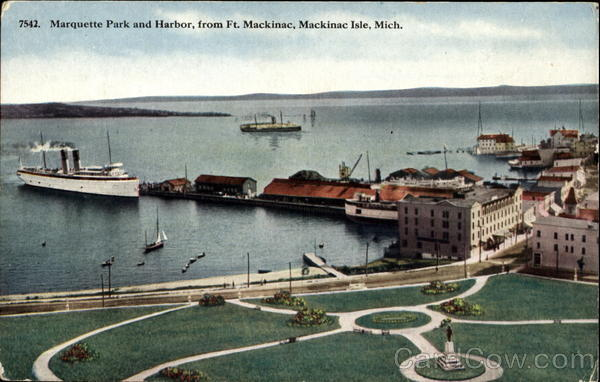 Marquette Park And Harbor Mackinac Island Michigan