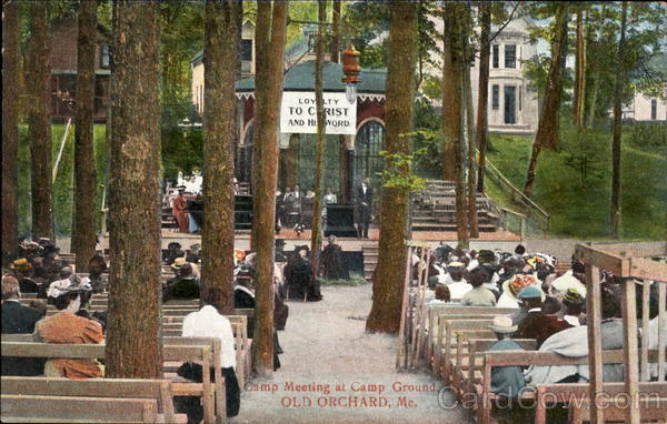 Camp Meeting At Camp Ground Old Orchard Maine