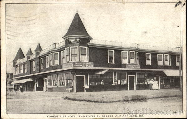 Forest Pier Hotel And Egyptian Bazaar Old Orchard Maine