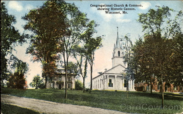 Congregational Church & Common Wiscasset Maine