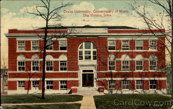 Drake University, Conservatory of Music Des Moines Iowa