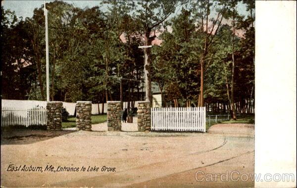 Entrance To Lake Grove East Auburn Maine