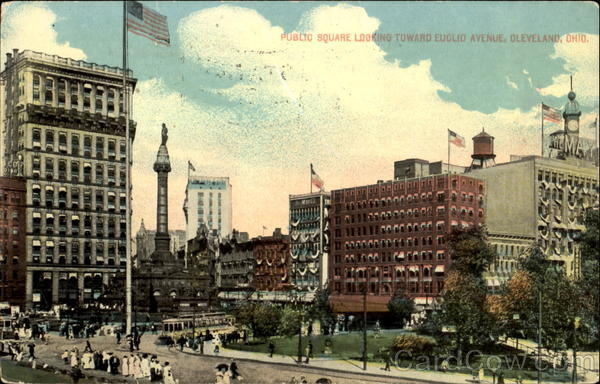 Public Square Looking Toward Euclid Avenue Cleveland Ohio