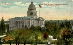 General View Of State Capitol And Grounds