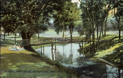 The Pond & Rustic Bridge, Childrens Home