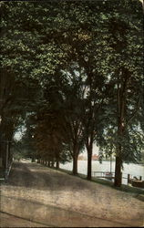 Driveway And River Scene