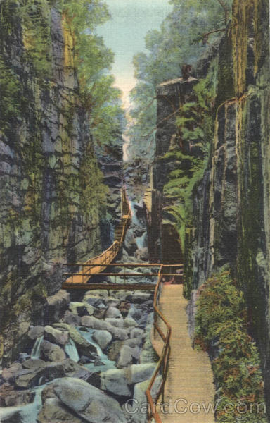 The Flume Gorge, Franconia Notch White Mountains New Hampshire