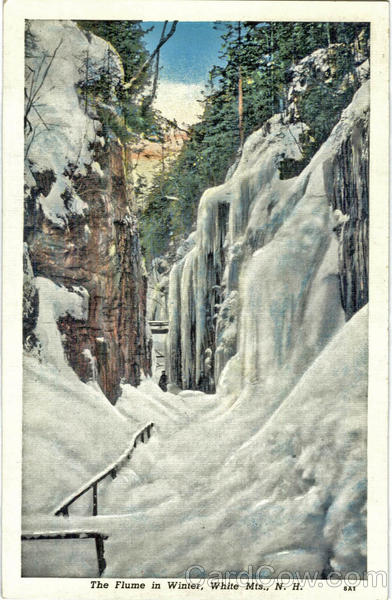 The Flume in Winter White Mountains New Hampshire