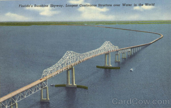 Florida's Sunshine Skyway, Longest Continuous Structure over Water in the World Scenic