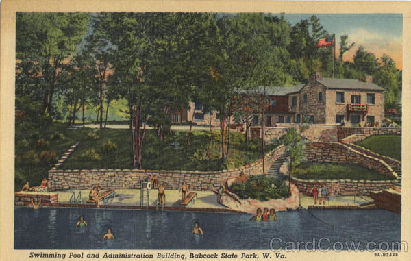Swimming Pool and Adminstration Building Babcock Sate Park West Virginia