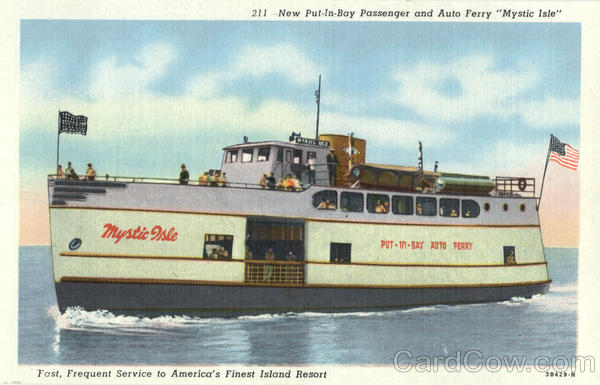 New Put-In Bay Passenger and Auto Ferry Mystic Isle Put-In-Bay Ohio