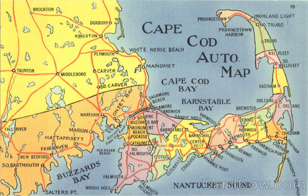 Cape Cod Auto Map Massachusetts