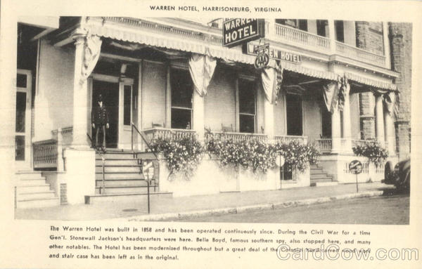 Warren Hotel Harrisonburg Virginia