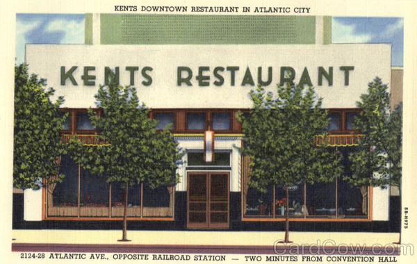 Kents Downtown Restaurant, Atlantic Ave., Opposite Railroad Station Atlantic City New Jersey