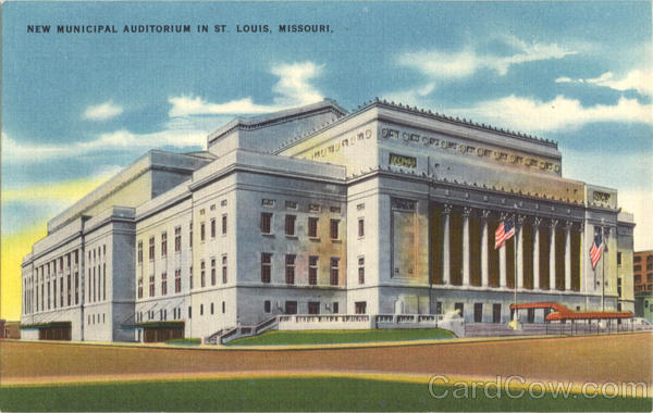 New Municipal Auditorium St. Louis Missouri
