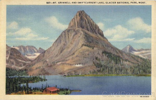 Mt. Grinnell and Swiftcurrent Lake Glacier National Park Montana